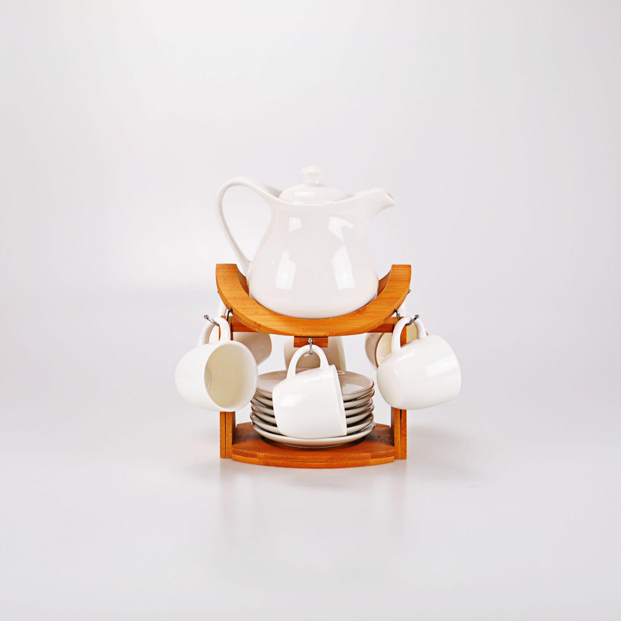 Jogo Chá Branco 28 X 17 cm