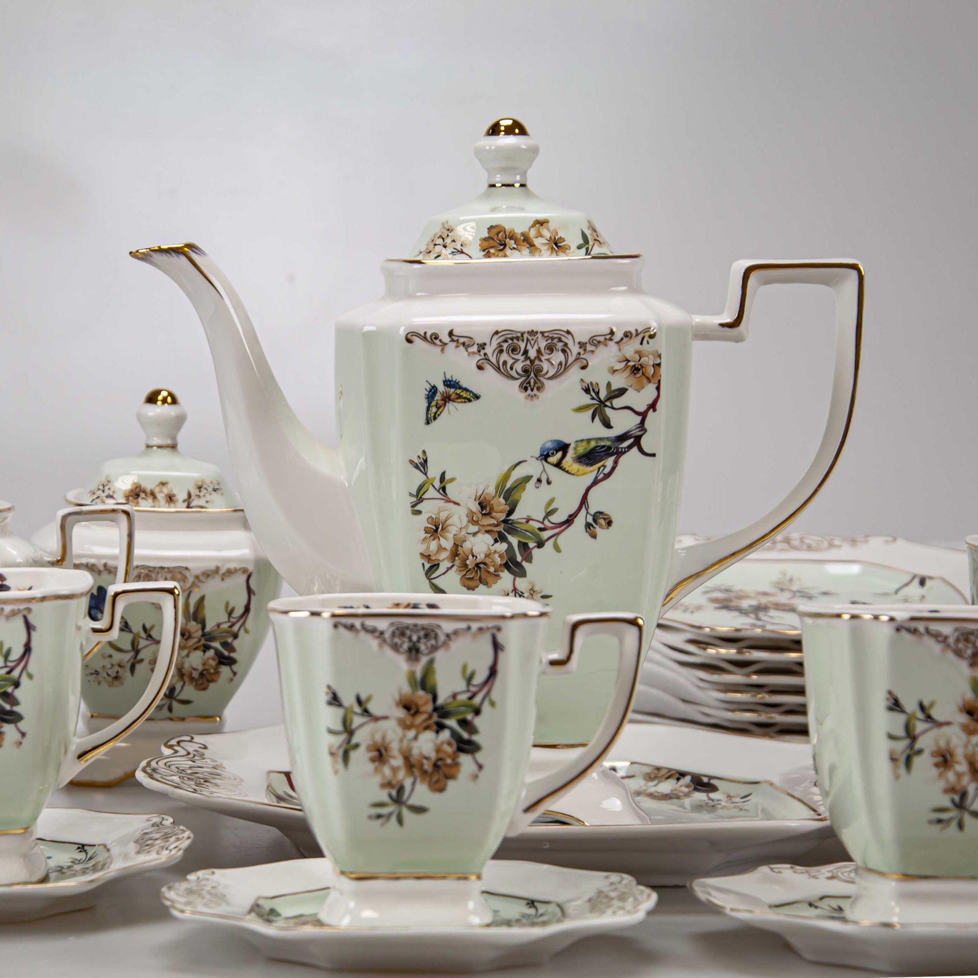 Jogo Chá Cerâmica (24 peças)