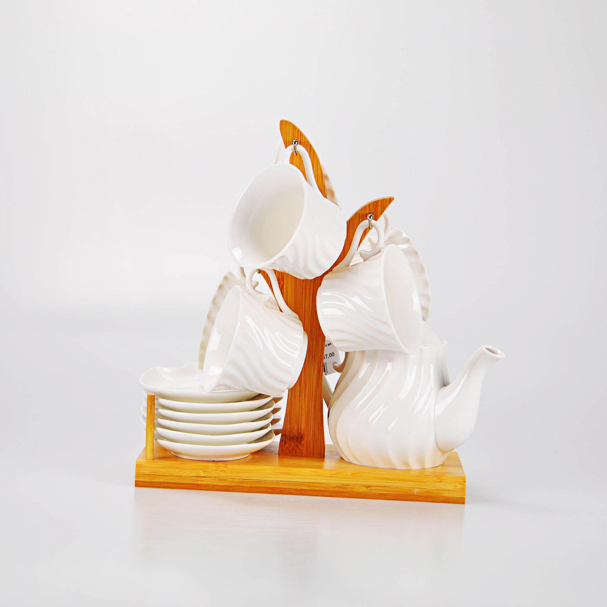 Jogo Chá Branco 29 X 28 cm (13 PEÇAS)