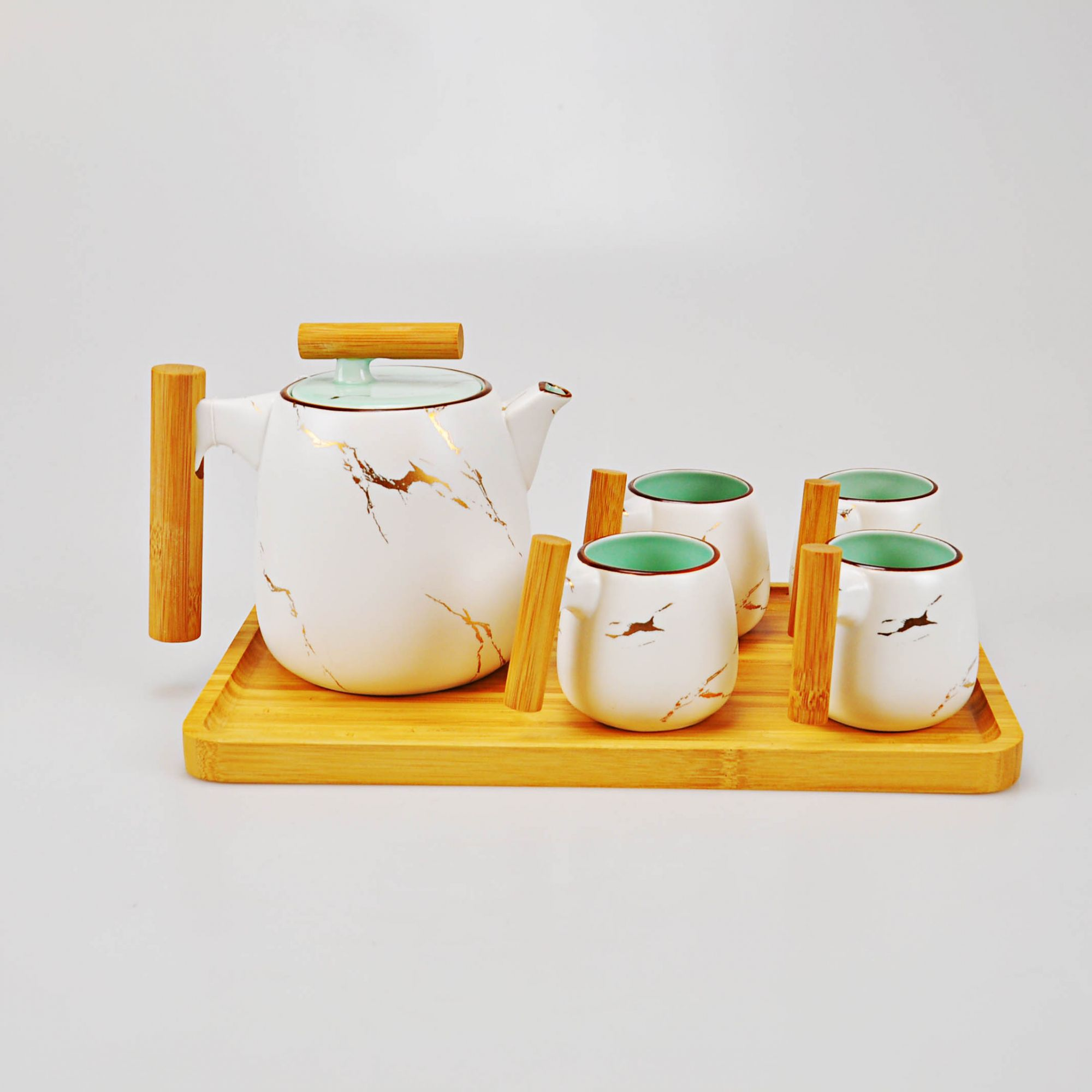 Jogo de Chá Branco 5,5 x 07 cm