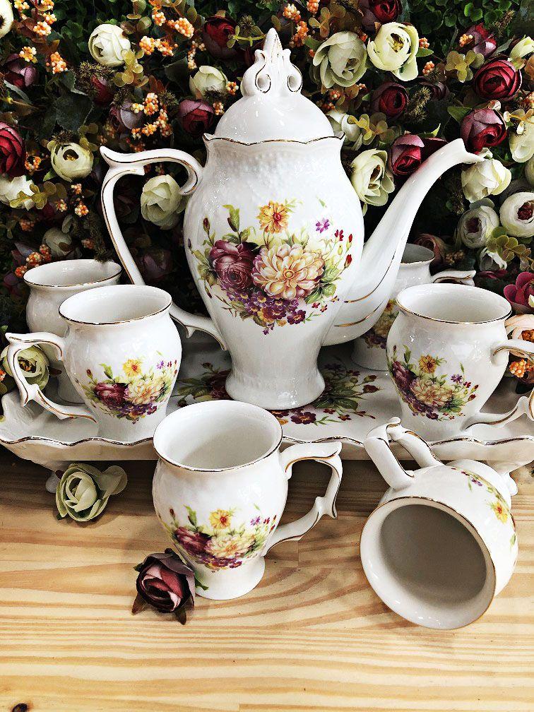 Jogo de chá Florido