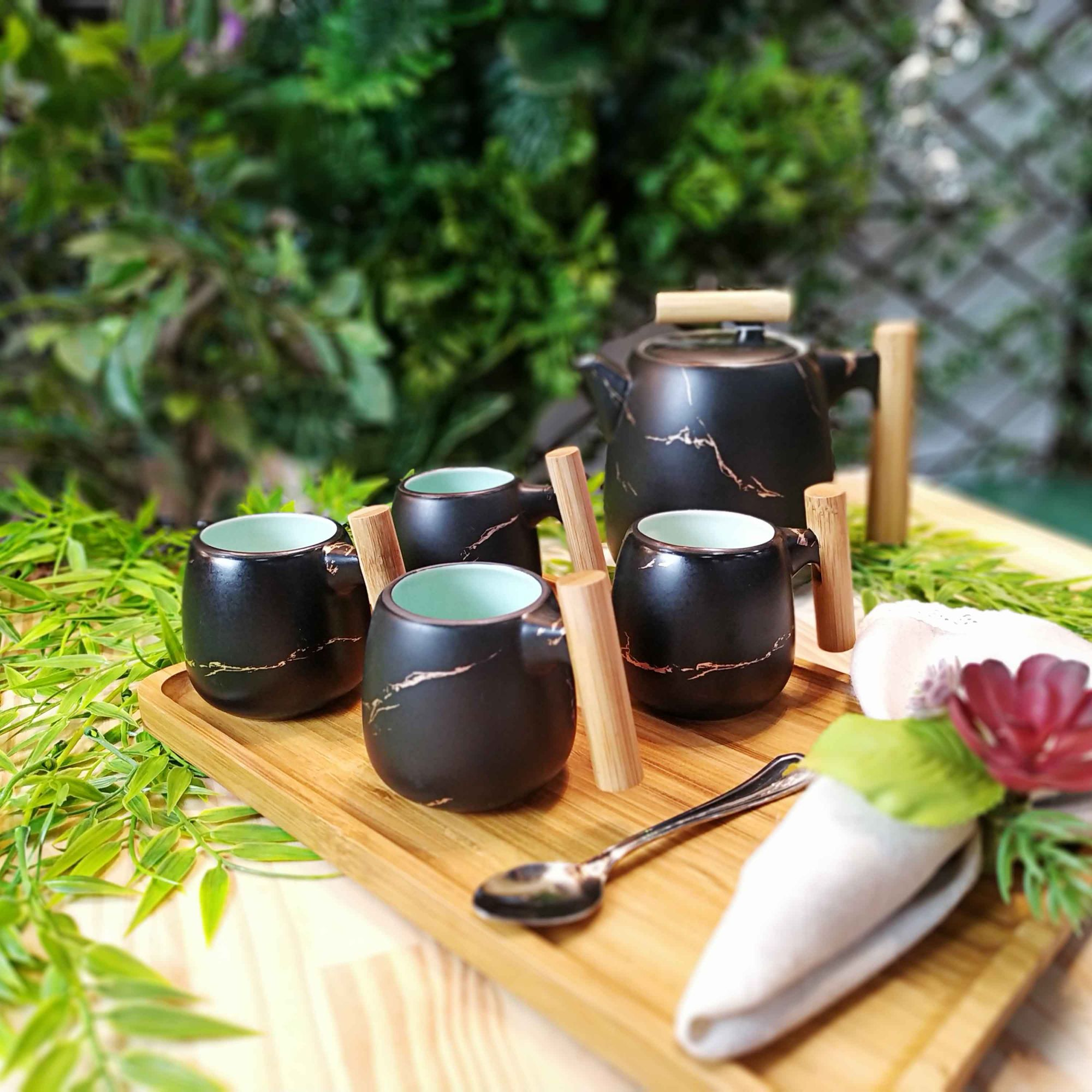 Jogo Chá Preto 5,5 x 07 cm