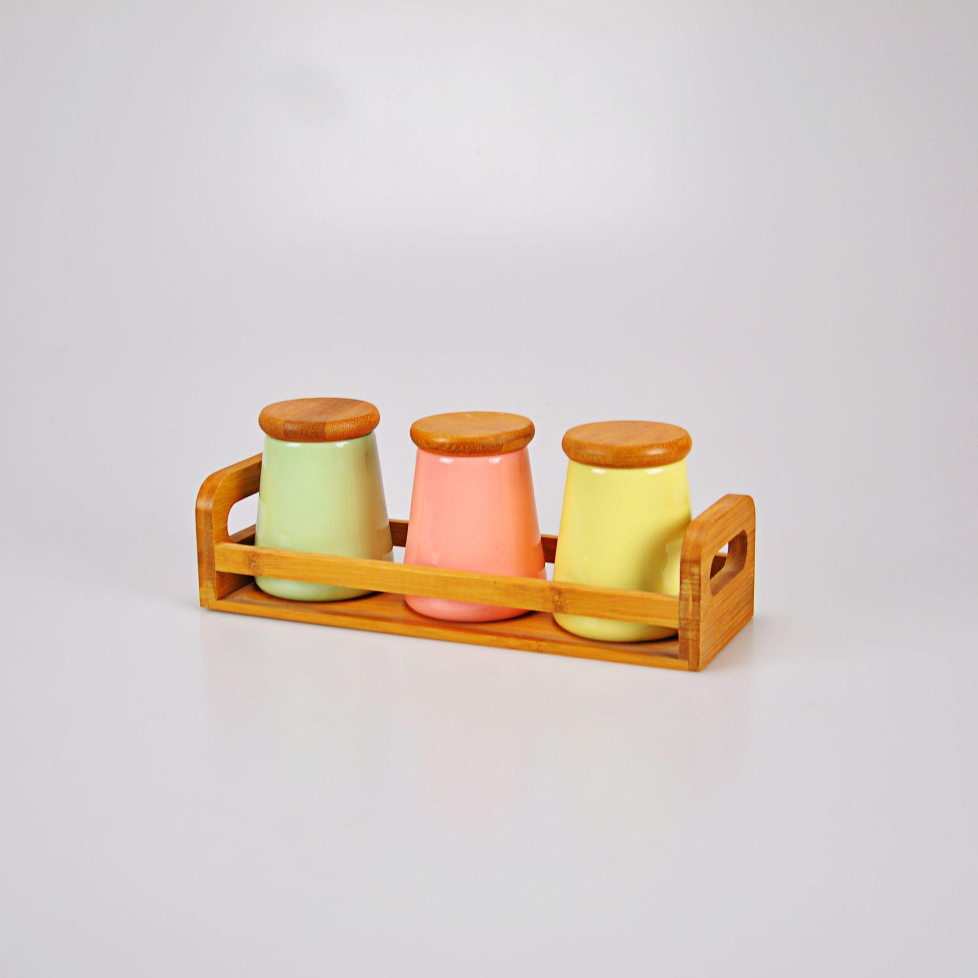 Jogo de potes coloridos (03 PEÇAS)