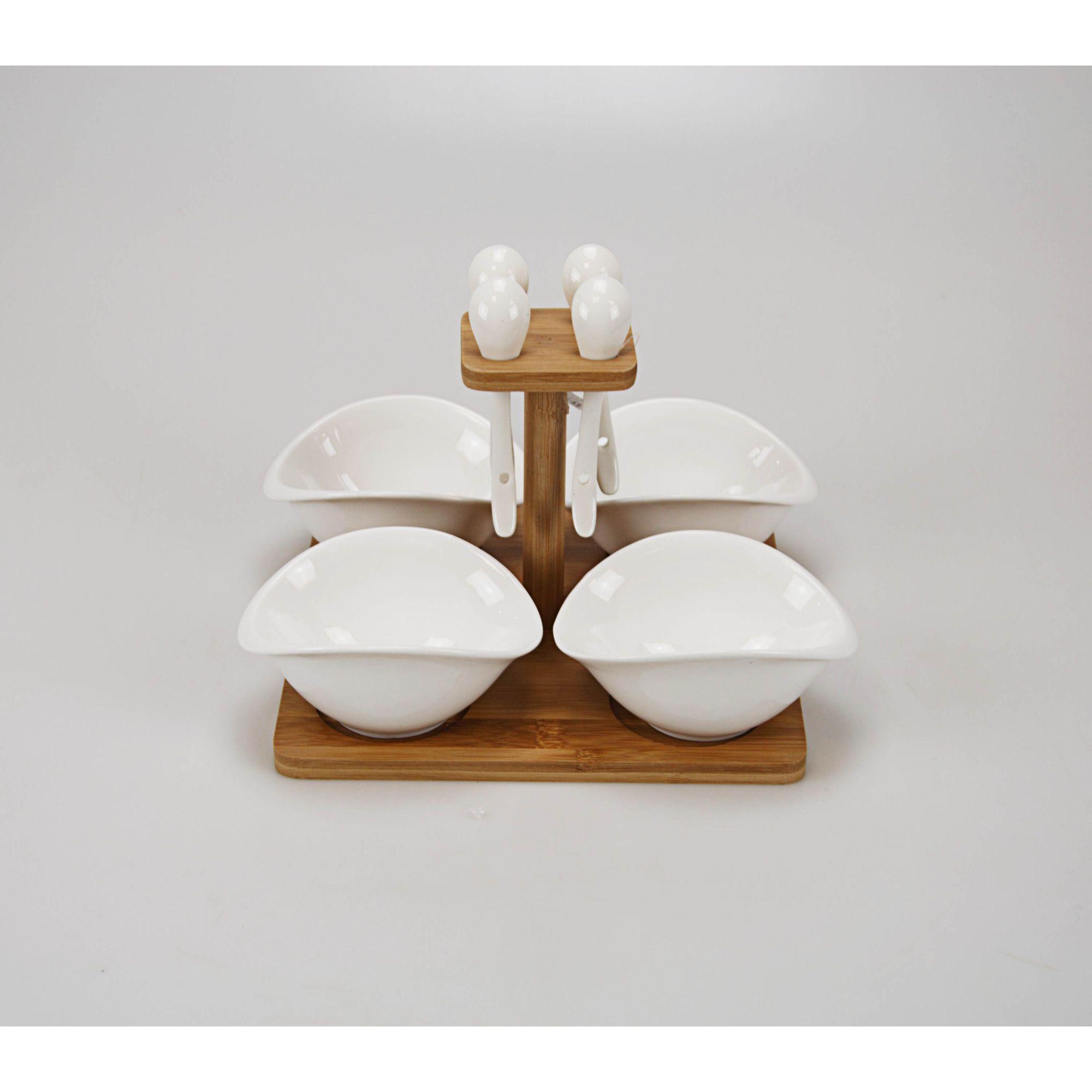 Jogo de Tigela  22 x 20 cm Branca (04 peças)