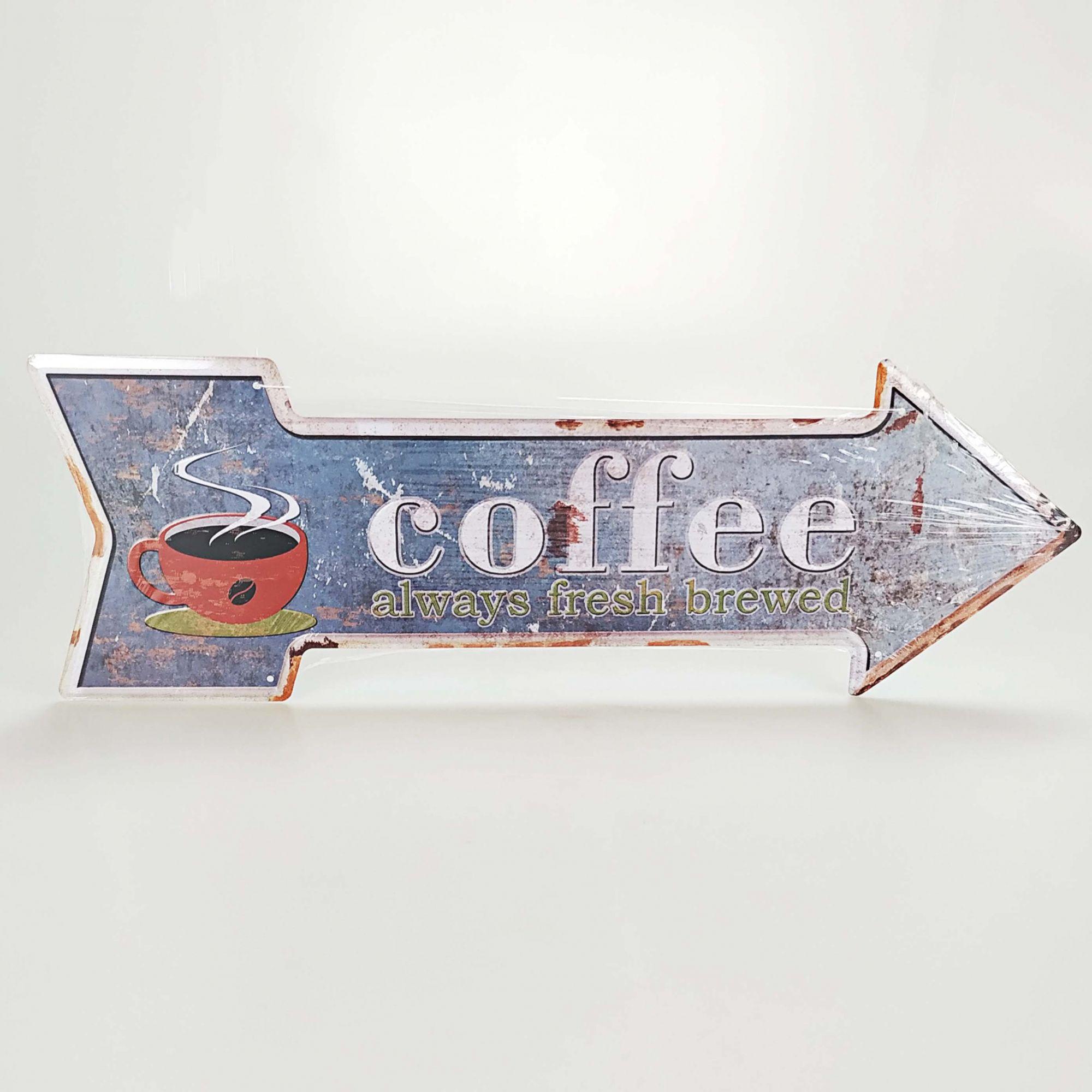 Placa 20 x 30 cm - Seta Direita COFFEE 3218