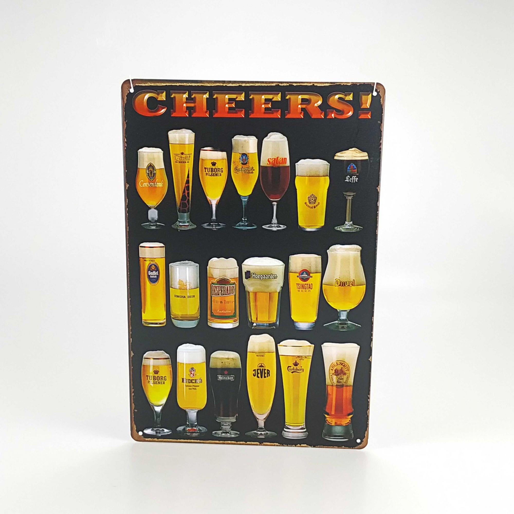 Placa aço 20 x 30 Cheers 3222