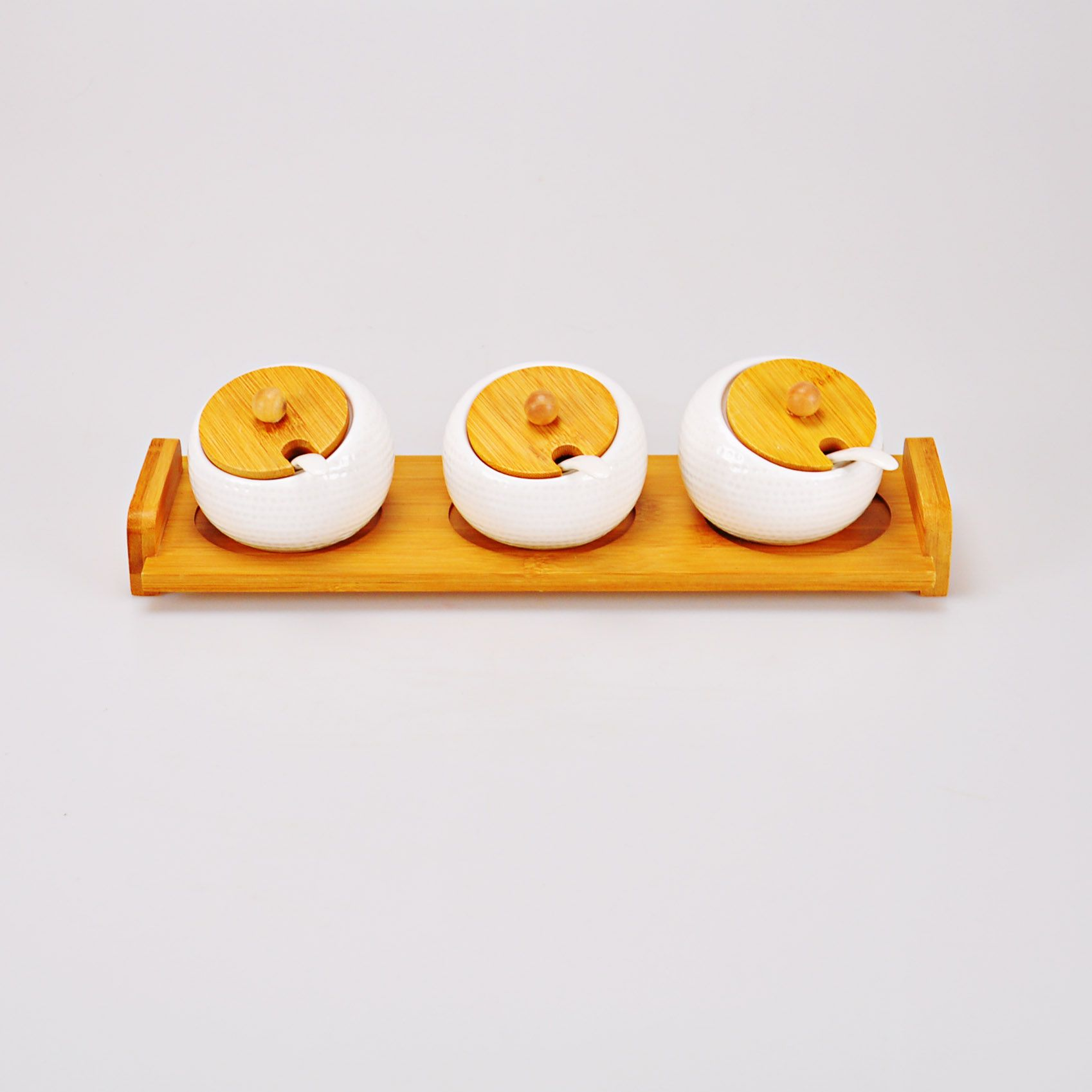 Potes Branco com bandeja 36,5 x 11 cm