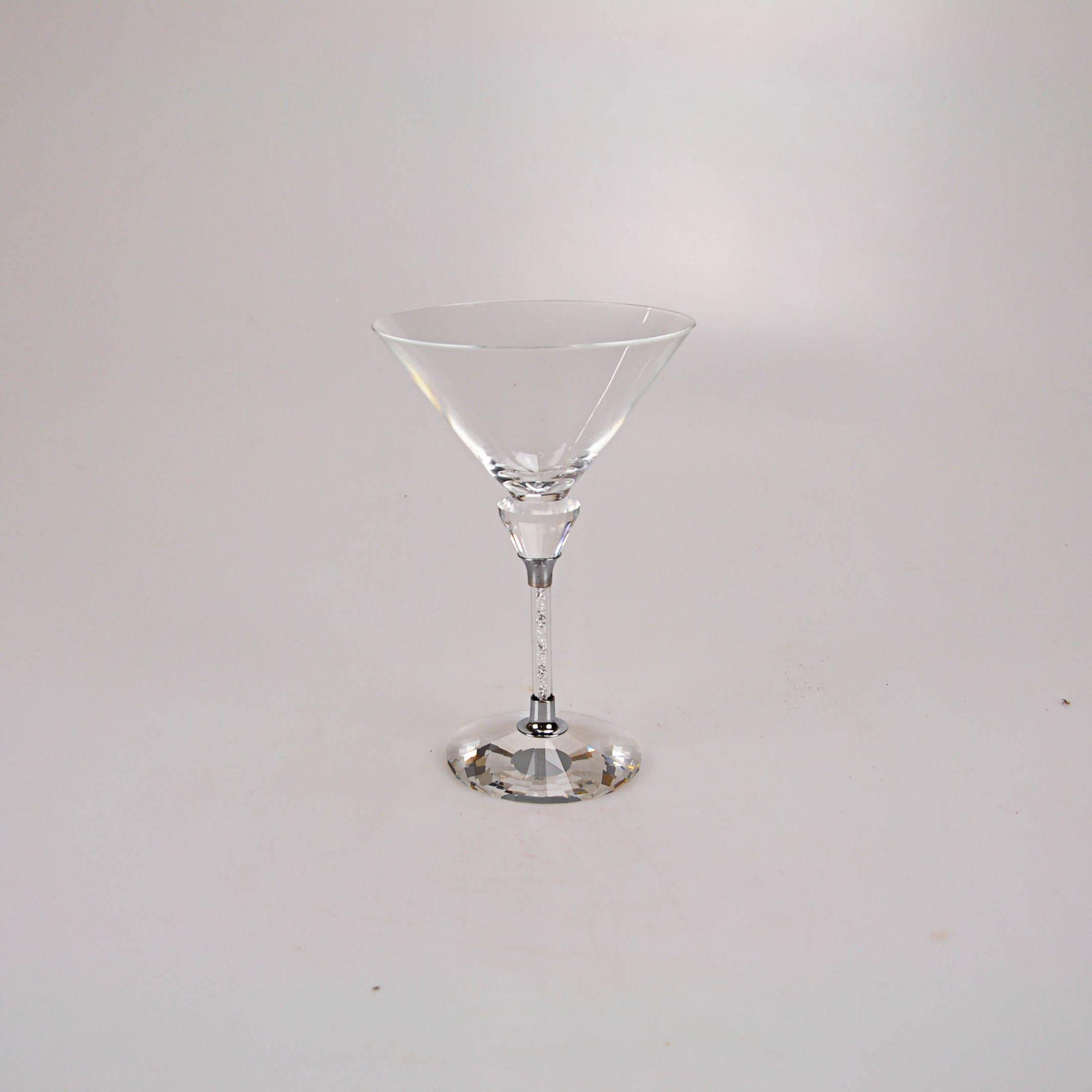 Taça para Martini com pedras pratas 1442
