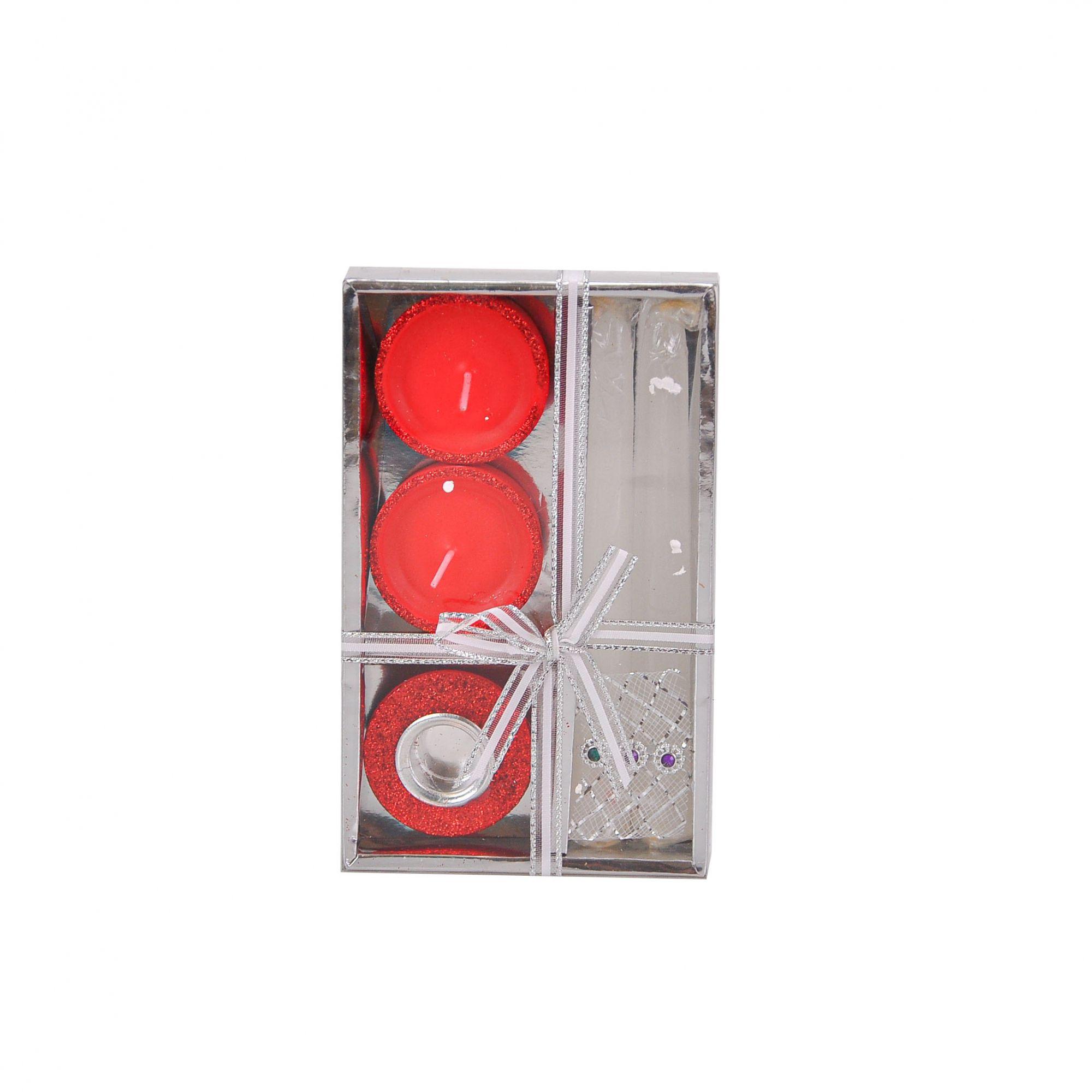 Vela de Parafina 16,5 x 10,5 cm (05 peças)