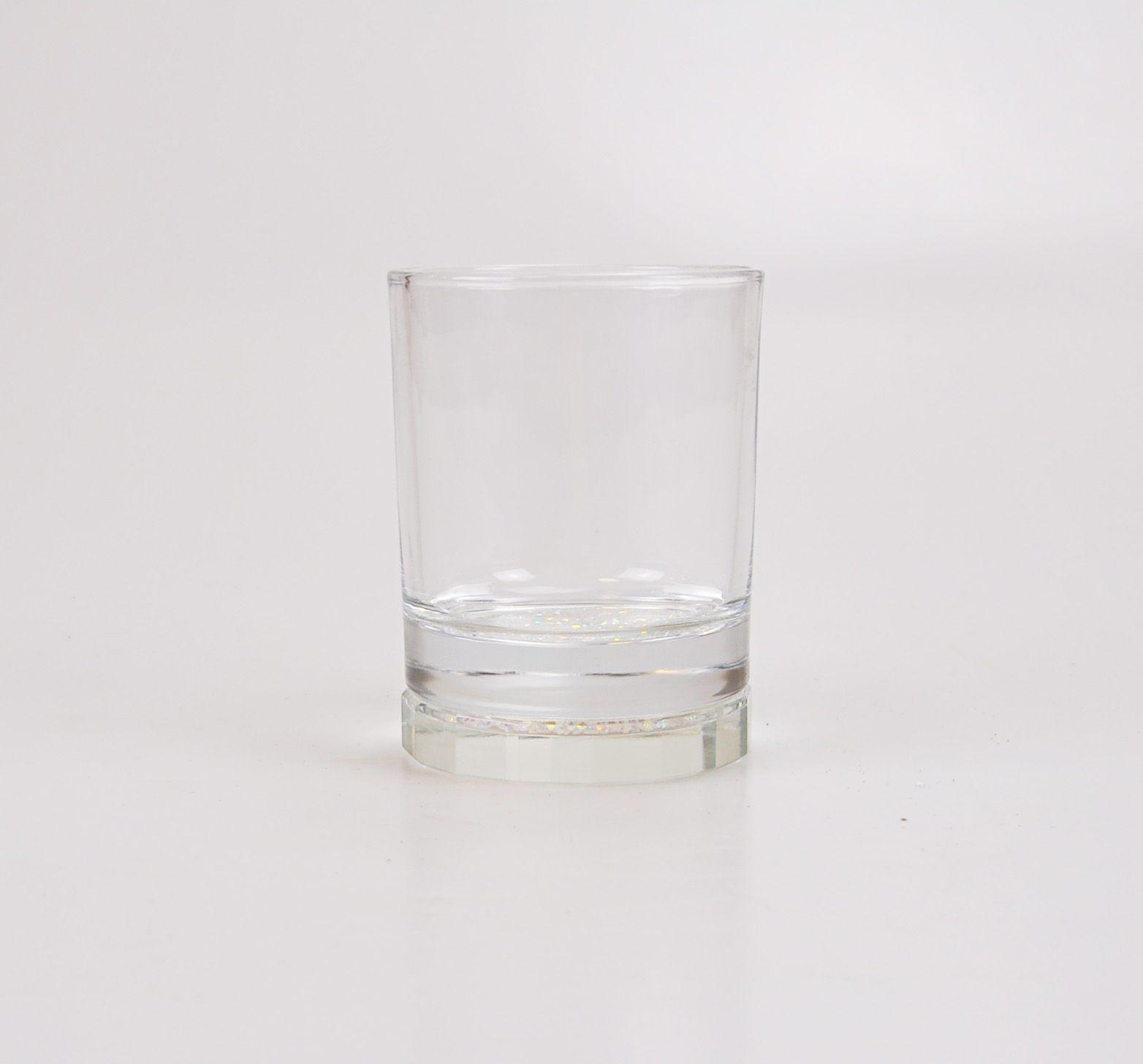 Copo de Vidro Whisky com Pedras Pratas- Unidade 61822