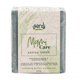 Sabonete facial Desintoxicante e Adstringente de Argila Verde - Mami Care