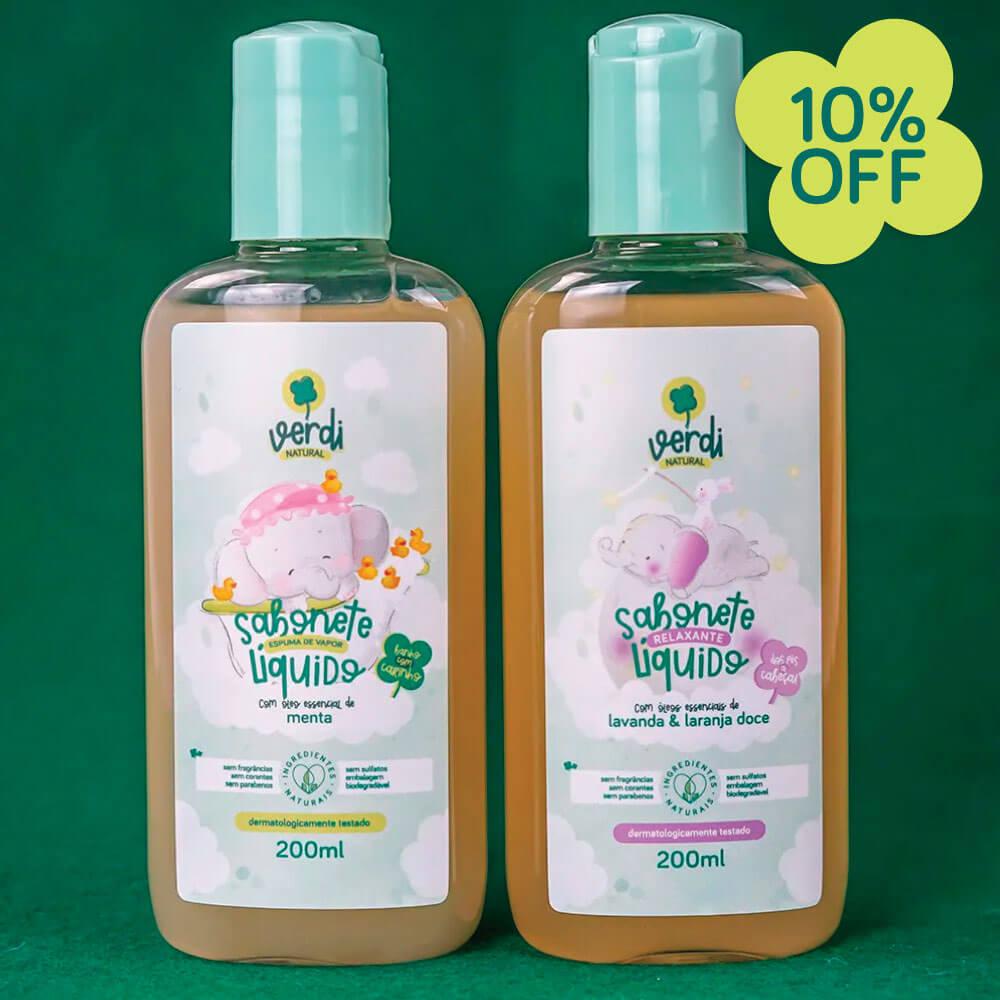 Banho do Bebê - Kit com 2 sabonetes líquido 100% Natural