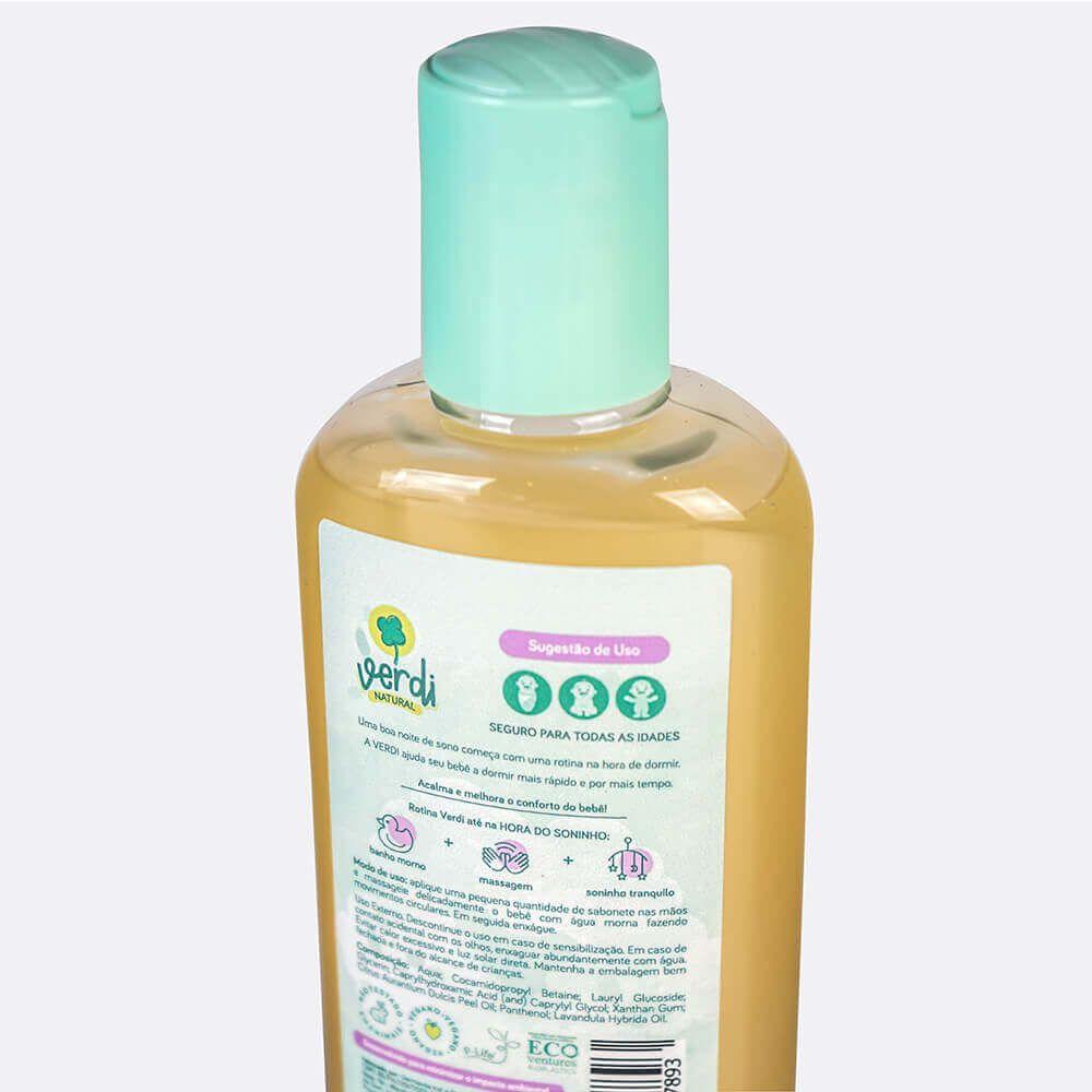 Sabonete Líquido e Shampoo Infantil Relaxante com Óleos Essenciais de Lavanda e Laranja Doce