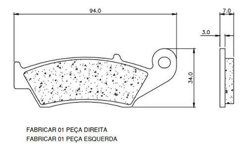 Pastilha De Freio Sinterizada Moldmix - Nx4 Falcon Dianteira  - Loja Moldmix