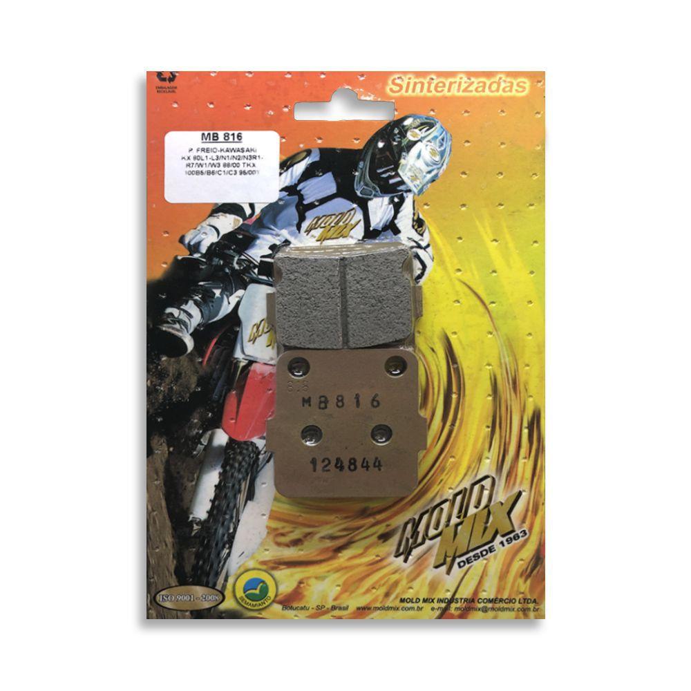 Pastilha De Freio Sinterizada MB816- Honda - Suzuki - Yamaha Tras ou Diant   - Loja Moldmix