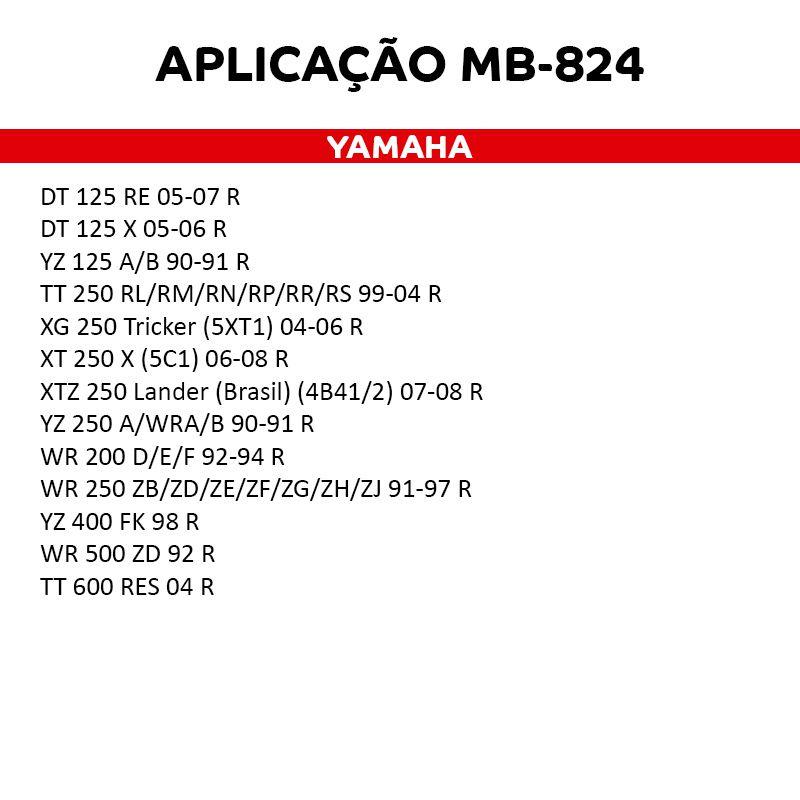 Pastilha De Freio Sinterizada MB824 Traseira Cannondale Kawasaki Suzuki Yamaha    - Loja Moldmix