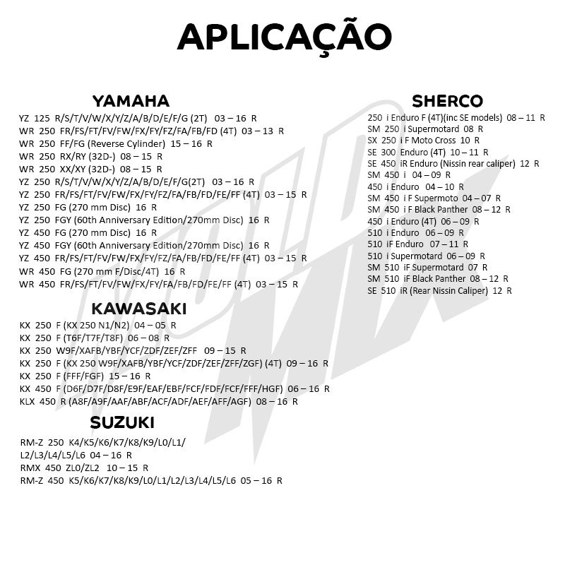 Pastilha De Freio Sinterizada- Suzuki - Kawasaki - Yamaha MB973  - Loja Moldmix