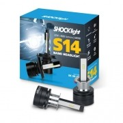 KIT LAMPADA FAROL LED CARRO SHOCKLIGHT S14 NANO H3 12V 6000K