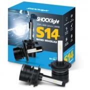 KIT LAMPADA FAROL LED CARRO SHOCKLIGHT S14 NANO H7 12V 6000K