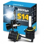 KIT LAMPADA FAROL LED CARRO SHOCKLIGHT S14 NANO HB3 HB4 12V