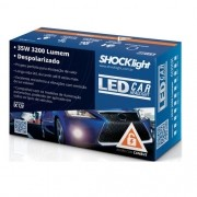 KIT LAMPADA LED HEADLIGHT LEDCAR H27 6000K 12V 3200LM PAR