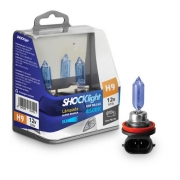 KIT LAMPADA SUPER BRANCA 12V 8500K 65W SHOCKLIGHT H9 PAR