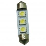 LAMPADA LED TORPEDO BRANCA 10X42 (PAR)