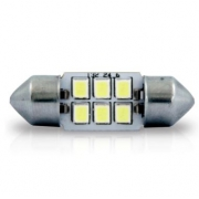 LAMPADA LED TORPEDO BRANCA PEQUENA 31MM (CADA)