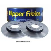 PAR DISCO FREIO HIPPER HF570 LOGAN SANDERO 1.0 16V/1.6 8V CLIO 08/ DIANT SOL