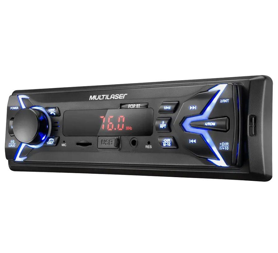 APARELHO RADIO POP BLUETOOTH FM/SD/USB/AUX. 4X25WRMS