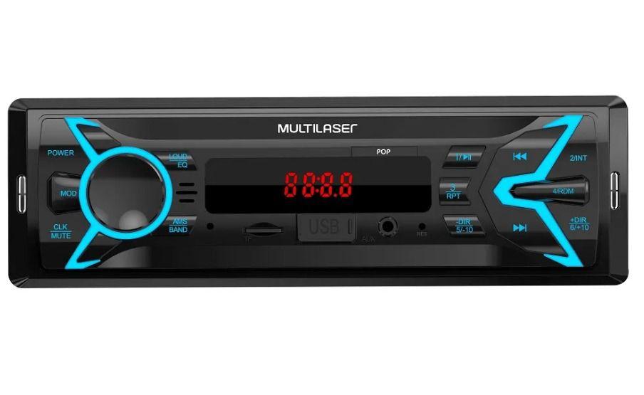 APARELHO SOM AUTOMOTIVO RADIO POP FM MP3 USB AUX 4X25WRMS