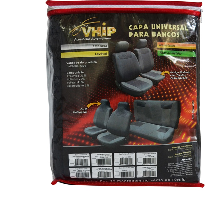 CAPA PARA BANCO AUTO - X C/4 CABECEIRAS