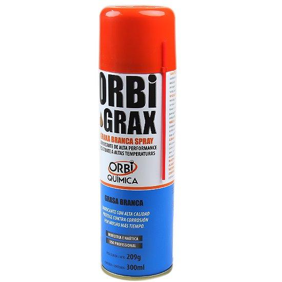 GRAXA BRANCA SPRAY ORBIGRAX 300ML/209G