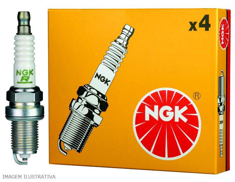 JOGO 4 VELAS NGK BKR7EKC PALIO UNO FIORINO 1.0 8V 96/ MPI