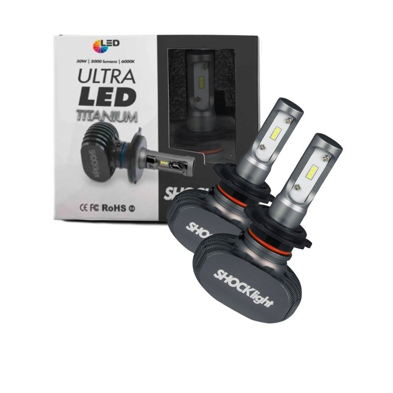 KIT LAMPADA CARRO ULTRALED TITANIUM SHOCKLIGHT H7 10000 LM
