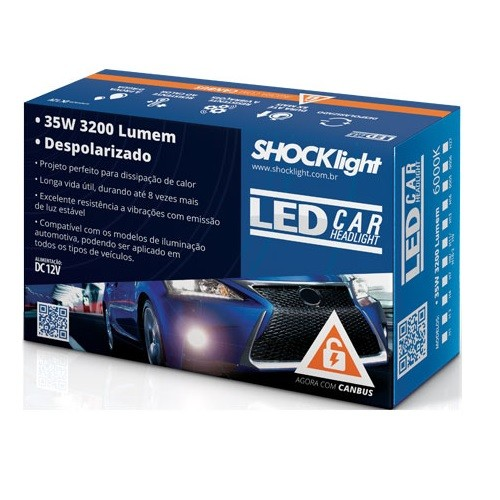 KIT LAMPADA LED HEADLIGHT LEDCAR H3 6000K 12V 35W 3200LM PAR