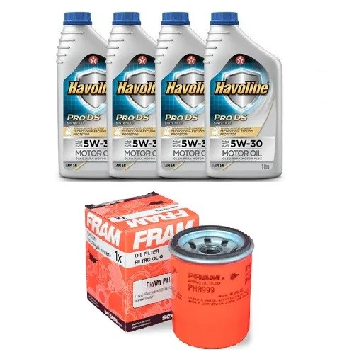 Kit Troca Oleo E Filtro Civic Fit Accord Fram Havoline 5W30