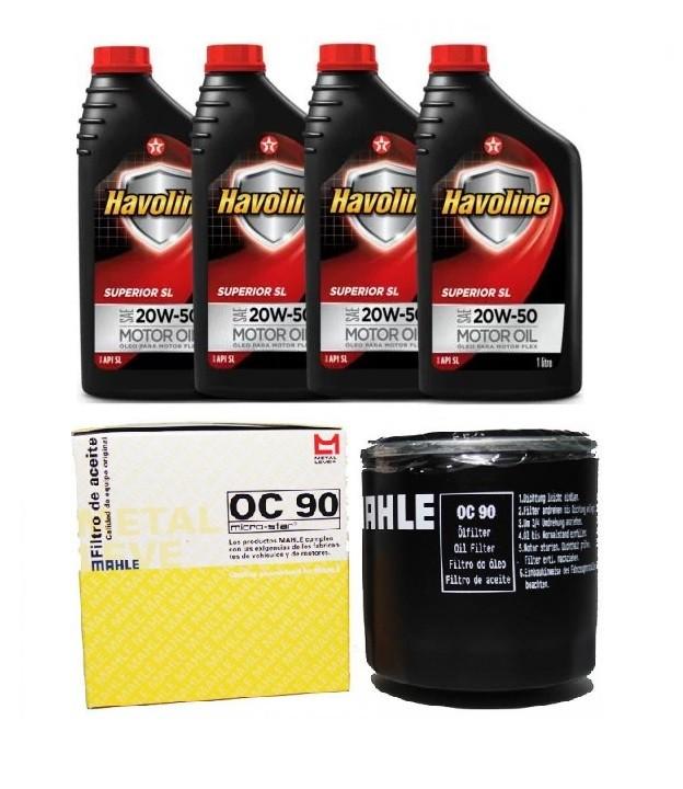 Kit Troca Oleo E Filtro Corsa Monza Kdt Mahle Havoline 20W50