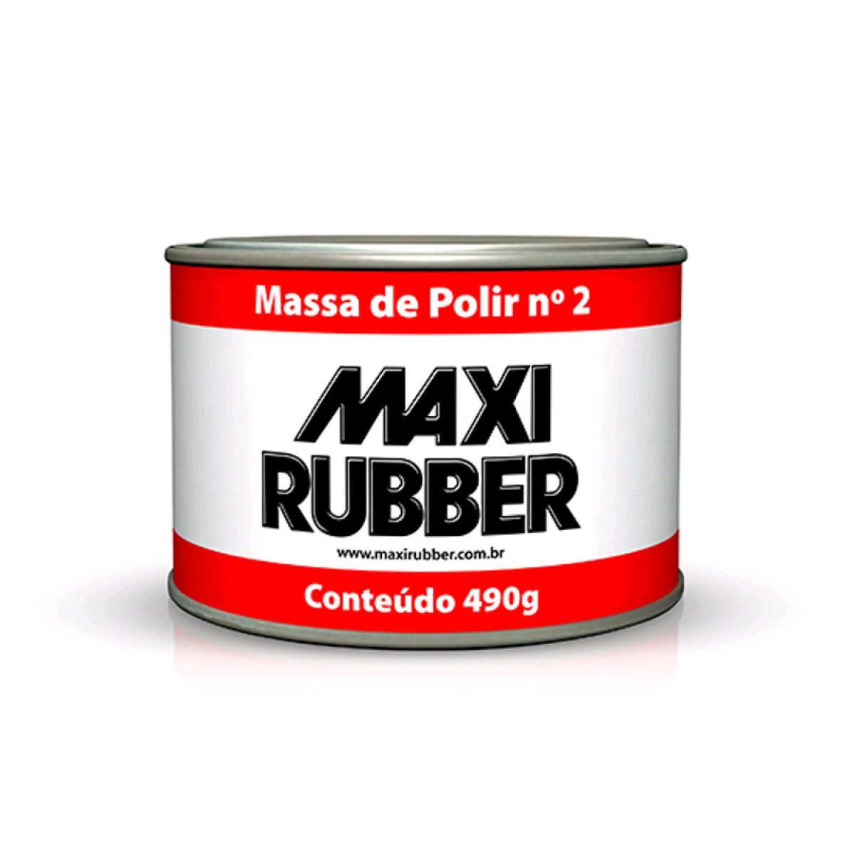 MASSA PARA POLIR N° 2 MAXI RUBBER 490G
