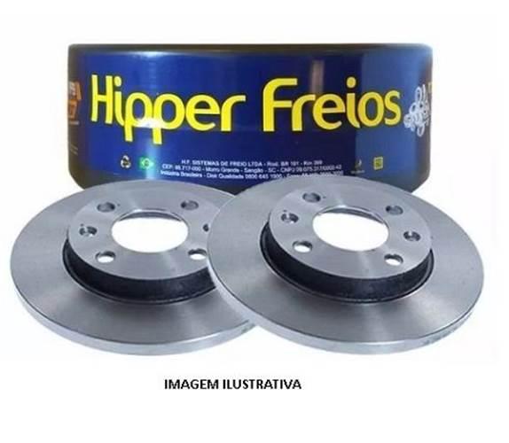 PAR DISCO FREIO HIPPER HF18B FOCUS FIESTA 1.6 TDS 02/ C/ABS ECOSPORT 03/ VENTILADO