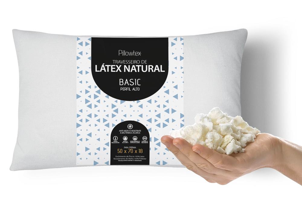 Travesseiro de Látex em flocos Alto