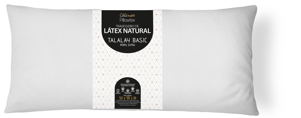 Travesseiro de Látex Talalay Basic 90cm