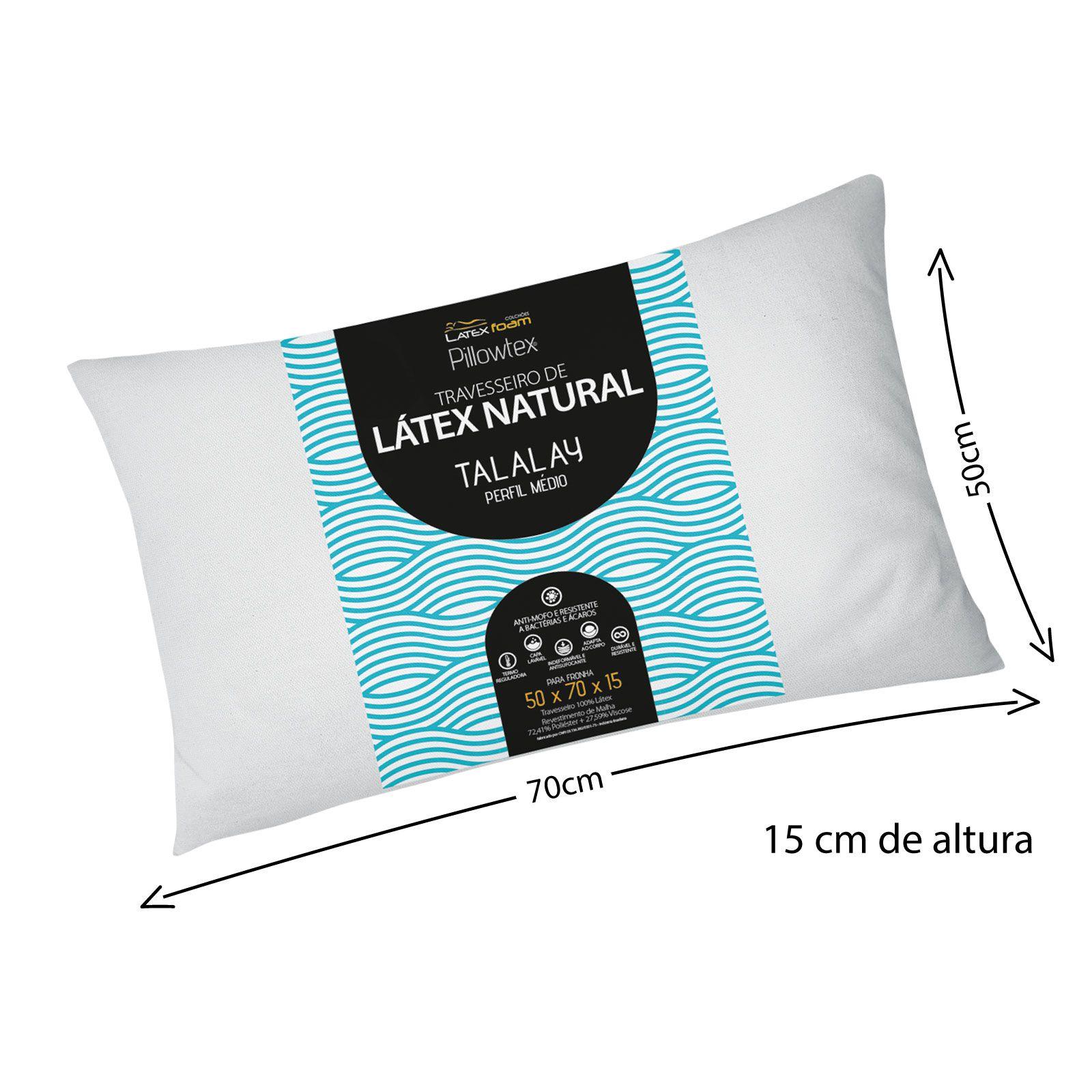 Travesseiro de Látex Talalay Perfil Médio