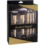 Precious Gold Kit com Pincéis Profissionais para Maquiagem ED006 Macrilan