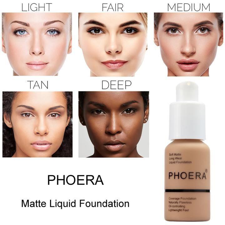 Base Líquida Matte Phoera Cosmetics