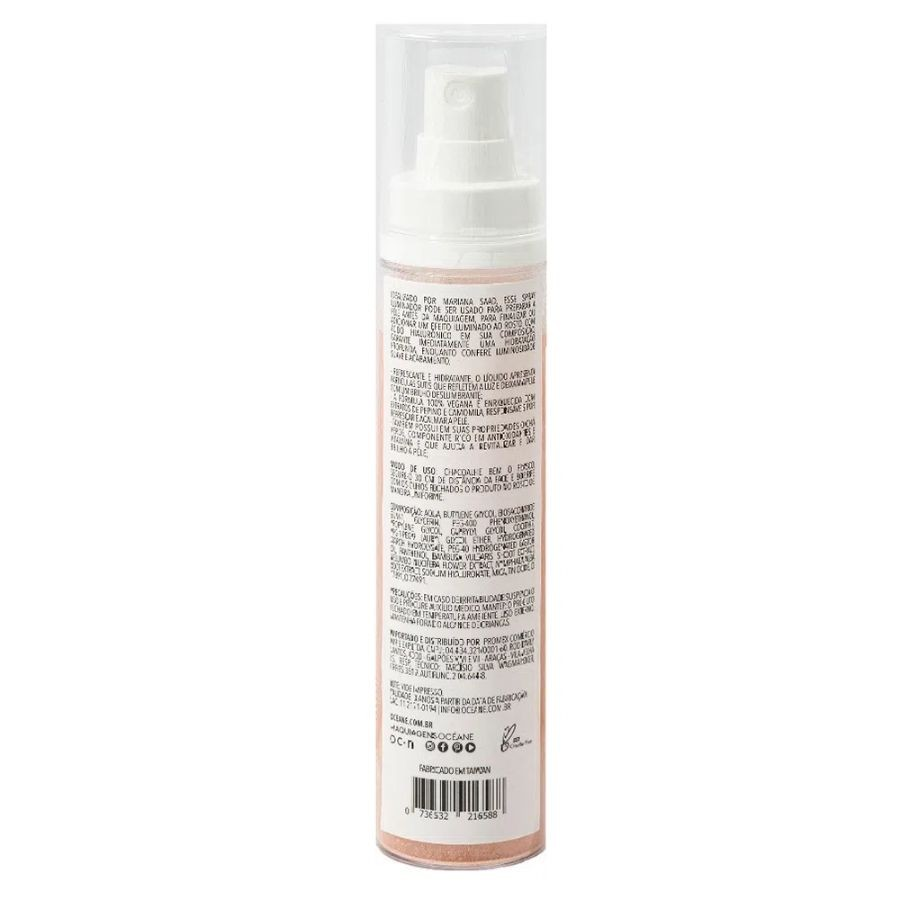 Iluminador em Spray Mariana Saad - Glow Now Rose