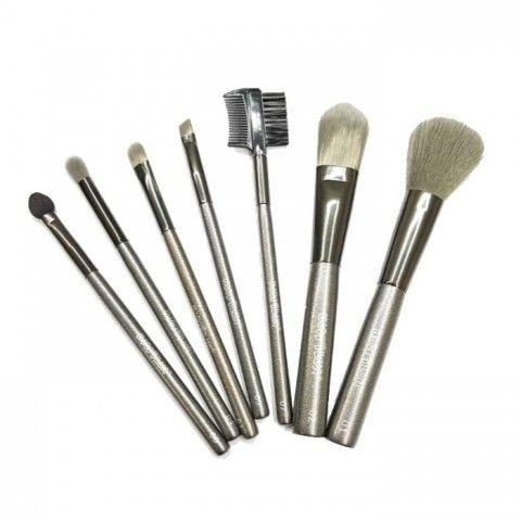 Kit com 7 Mini Pincéis para Maquiagem KP81 Macrilan