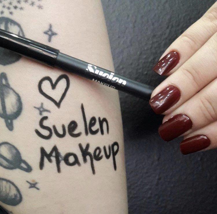 Lápis para Olhos Preto Prova D'Água Suelen Makeup