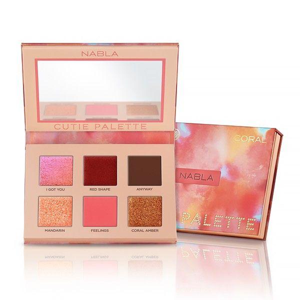 Paleta de Sombra Cutie Coral Nabla Cosmetics