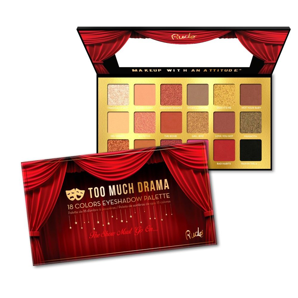Paleta de Sombras Too Much Drama Rude Makeup